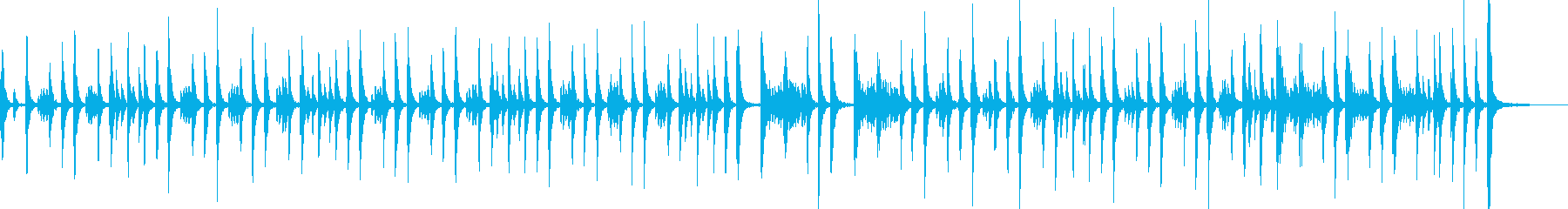 ドラム:マーチ、ロング、キック、スネアの再生済みの波形