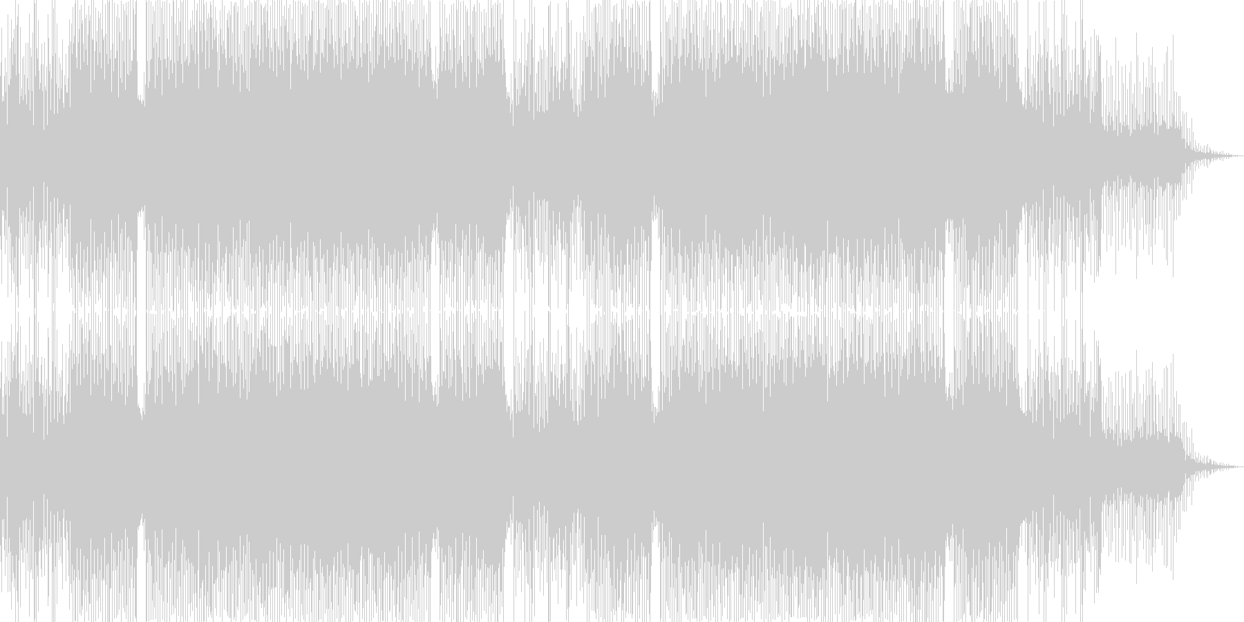 ジャジーなコードのおしゃれムード系ハウスの未再生の波形