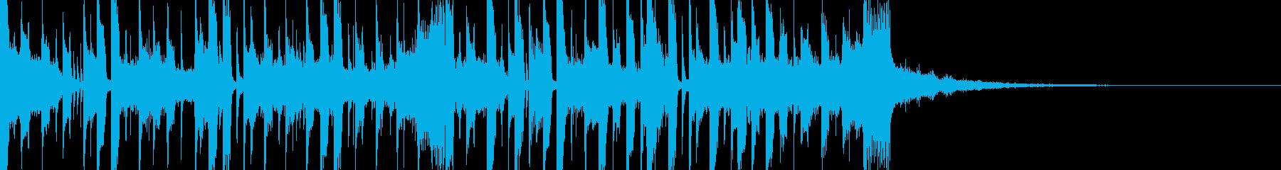 爽やかで近未来的なサウンドロゴの再生済みの波形