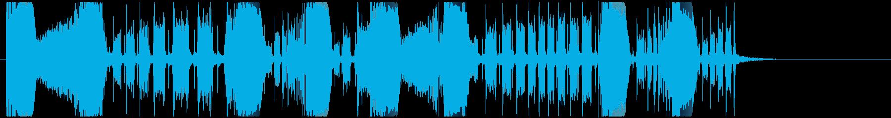 エレクトロ/ウネウネしたベースのジングルの再生済みの波形