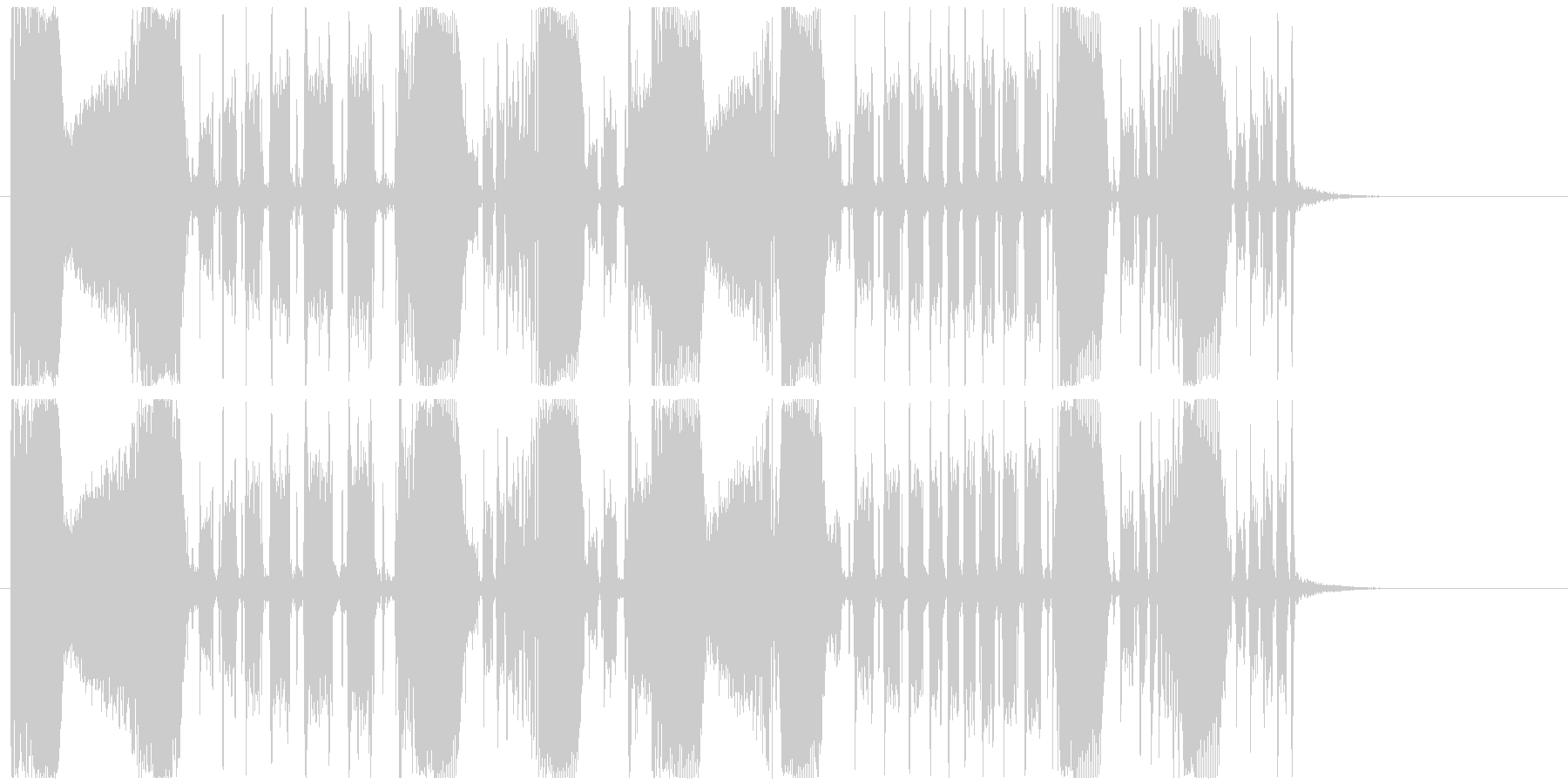 エレクトロ/ウネウネしたベースのジングルの未再生の波形