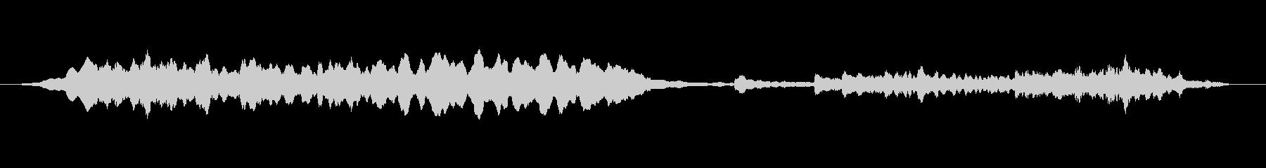 短めの静かなヒーリングミュージックの未再生の波形