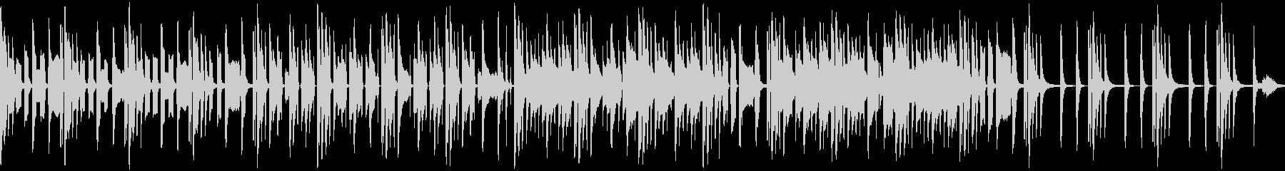 のんびりほんわかしたリコーダー楽曲ループの未再生の波形