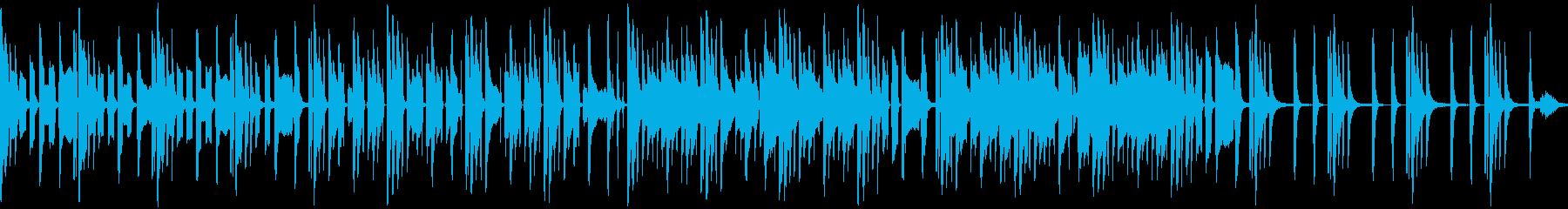 のんびりほんわかしたリコーダー楽曲ループの再生済みの波形