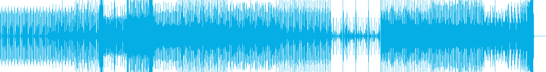 少し煽る感じの4つ打ち系の曲の再生済みの波形