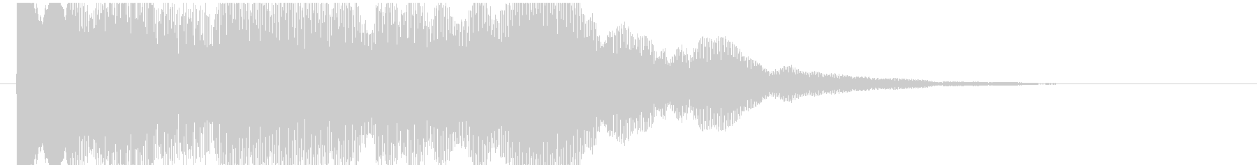 神秘的で透明感のあるアクセント音11の未再生の波形