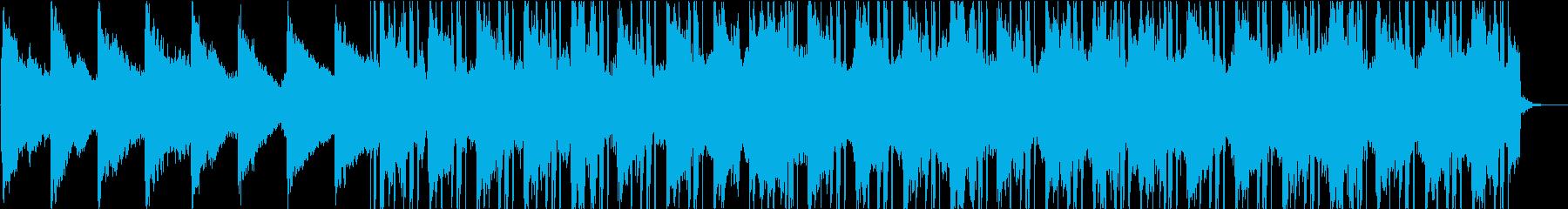 暖かいローファイサウンドビートの再生済みの波形