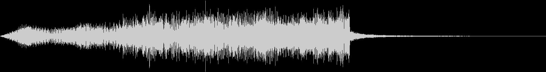 高音の電子音とドンドンと響く低音がマッチの未再生の波形