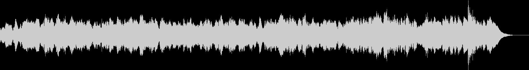 とても暗い雰囲気のオーケストラサウンドの未再生の波形