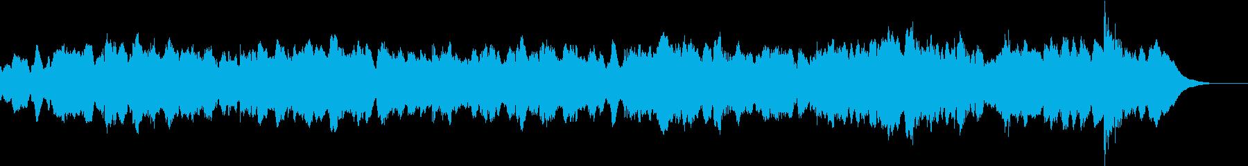とても暗い雰囲気のオーケストラサウンドの再生済みの波形
