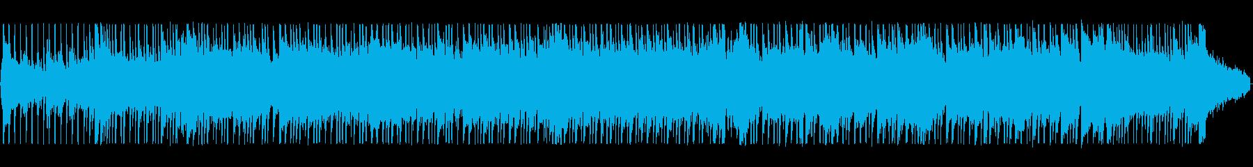 ゆったりした懐かしいシンセサイザーの曲の再生済みの波形