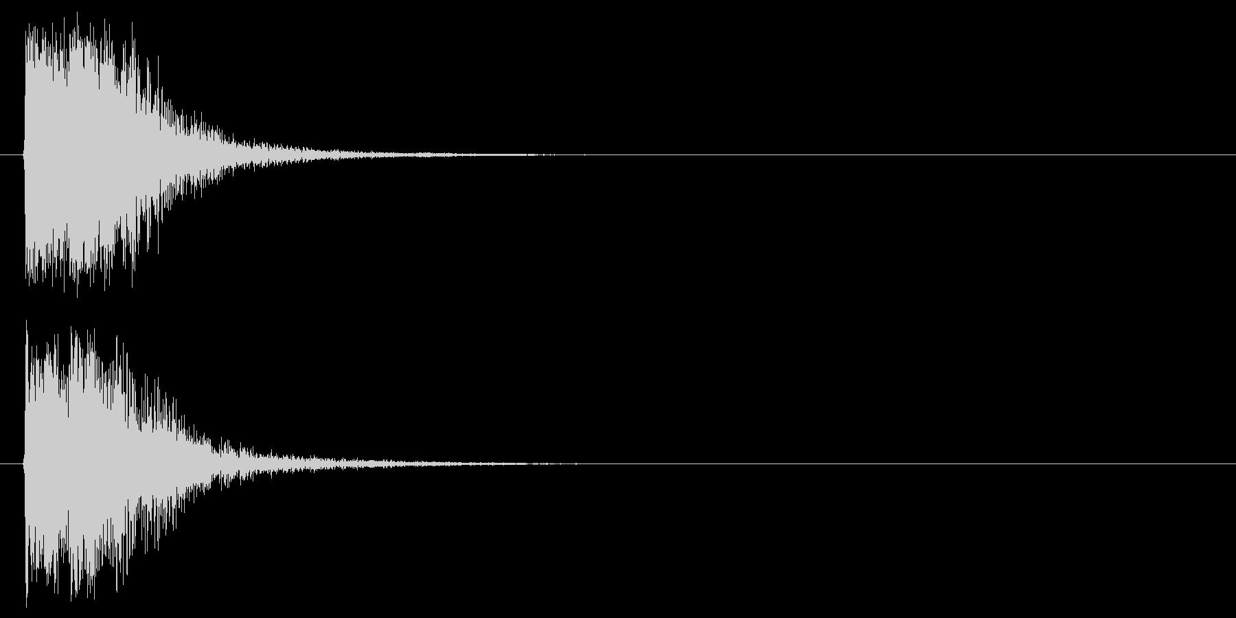 オケヒットによるクイズ出題アタックの未再生の波形