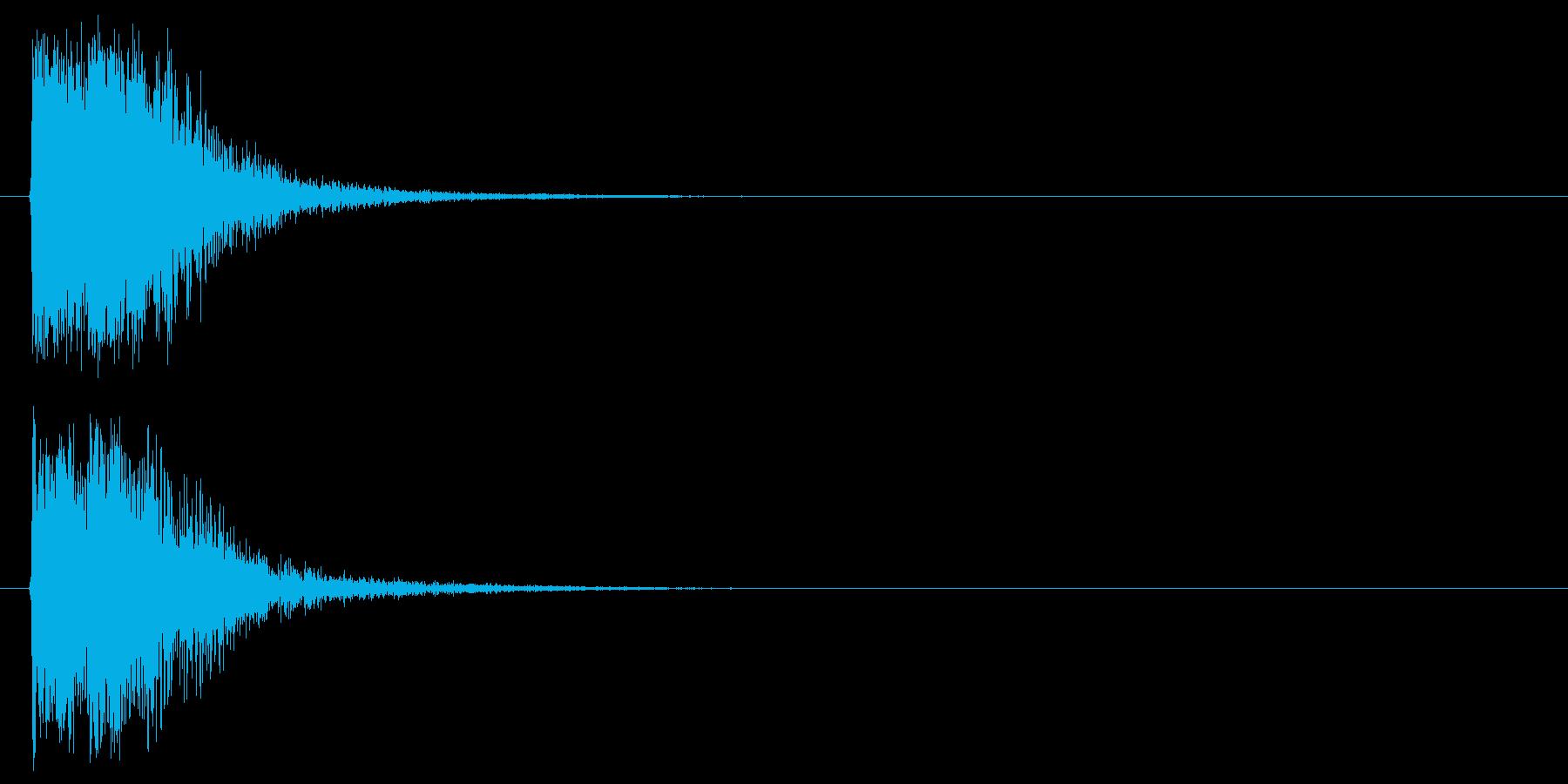 オケヒットによるクイズ出題アタックの再生済みの波形