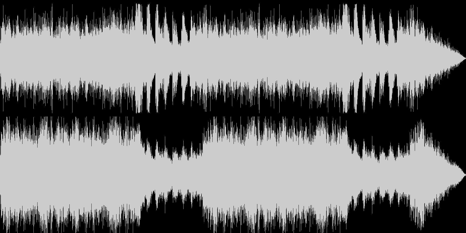 和やかな雰囲気に包まれた映像用BGMの未再生の波形