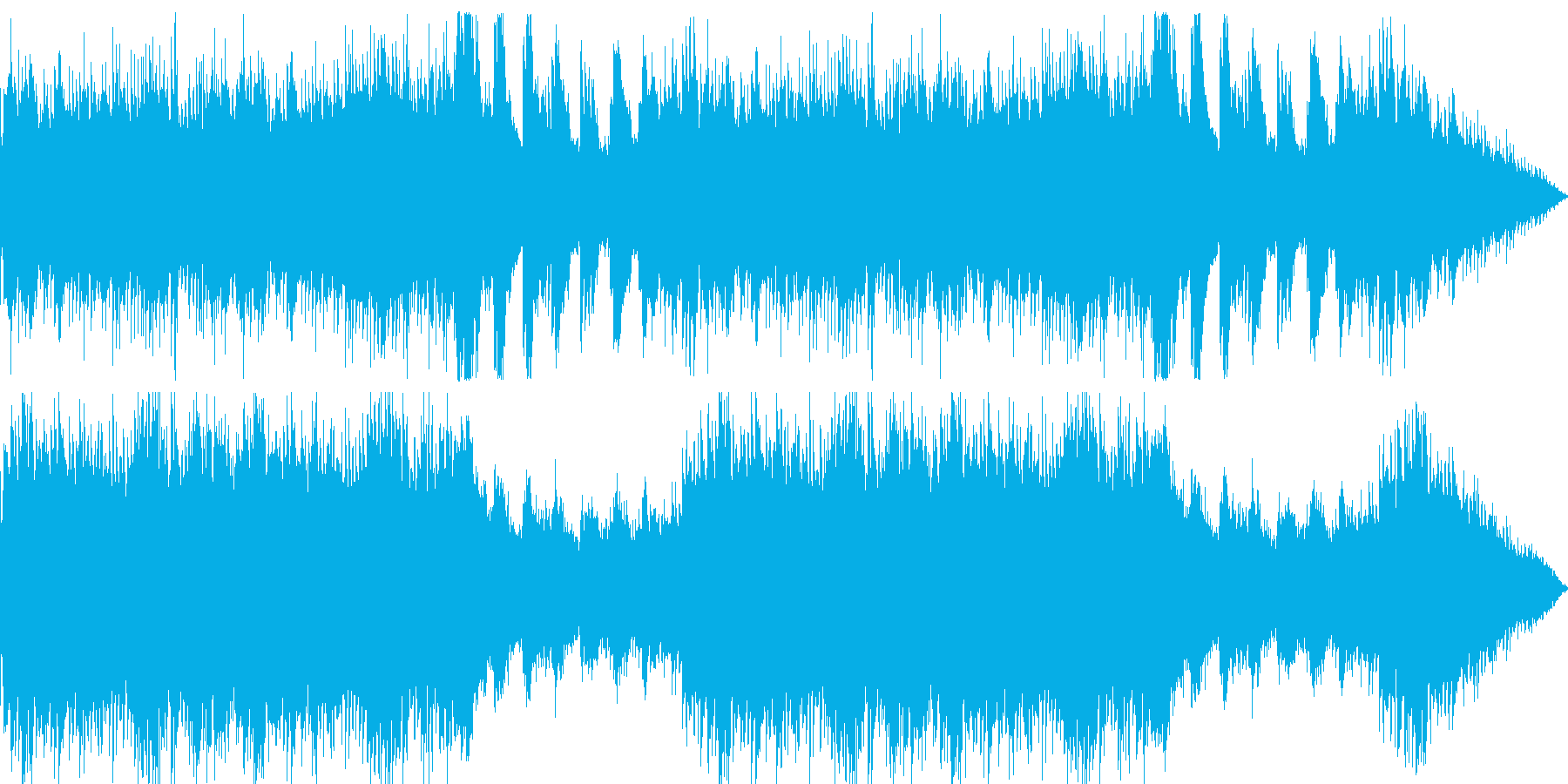 和やかな雰囲気に包まれた映像用BGMの再生済みの波形