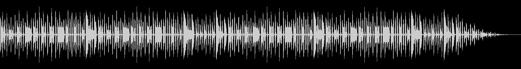 梅雨に 童謡「かたつむり」脱力系アレンジの未再生の波形