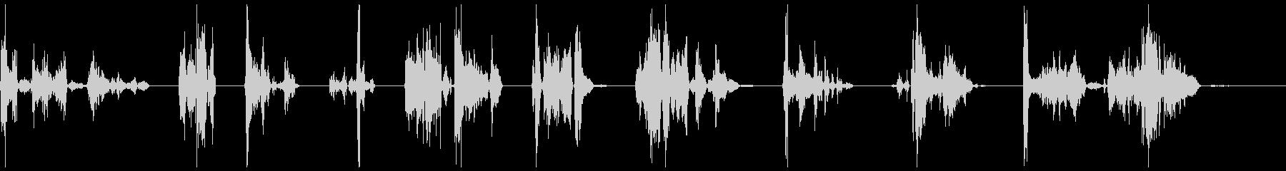 シングルゾンビのうなり声、男性X10の未再生の波形