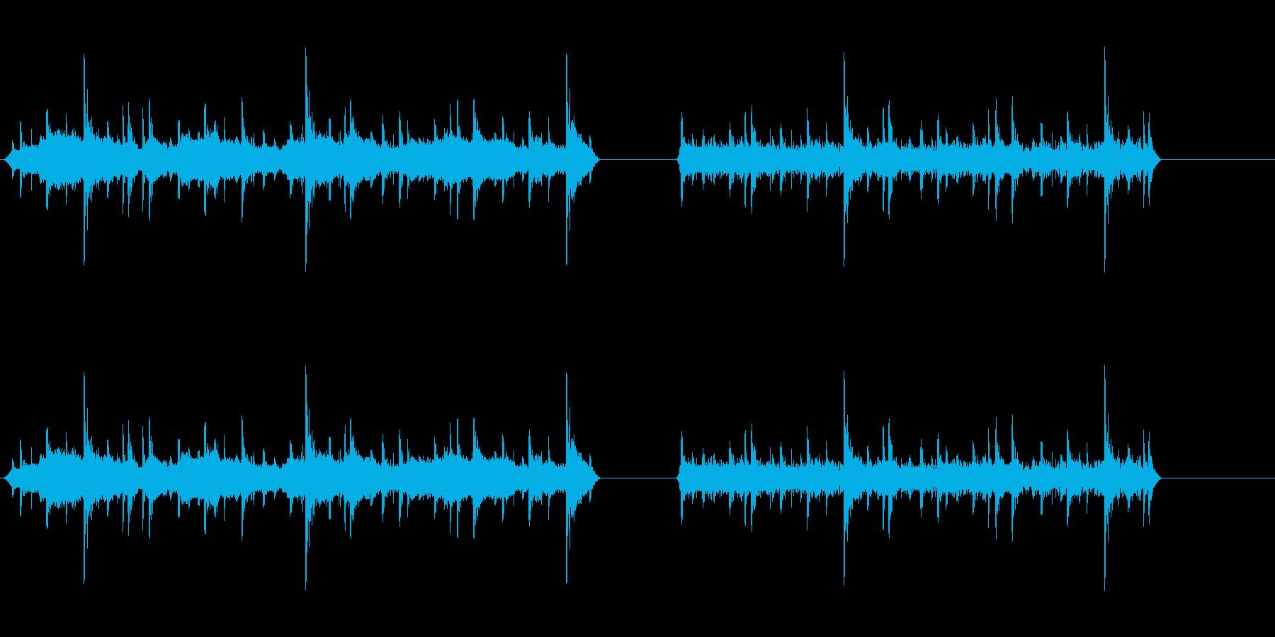 花火リモートの再生済みの波形