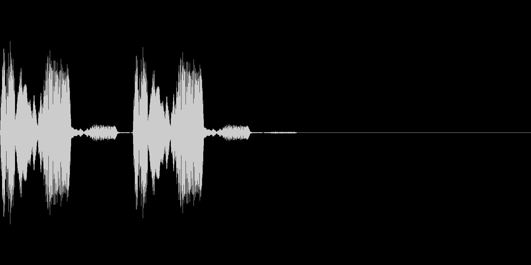 ピヨピヨとひよこのような気絶などのステ…の未再生の波形