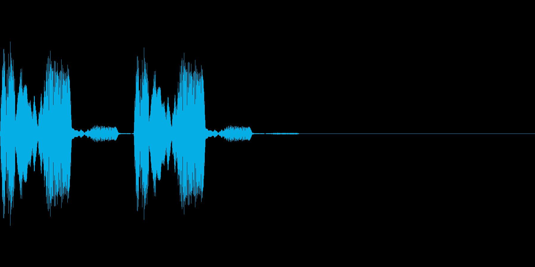 ピヨピヨとひよこのような気絶などのステ…の再生済みの波形