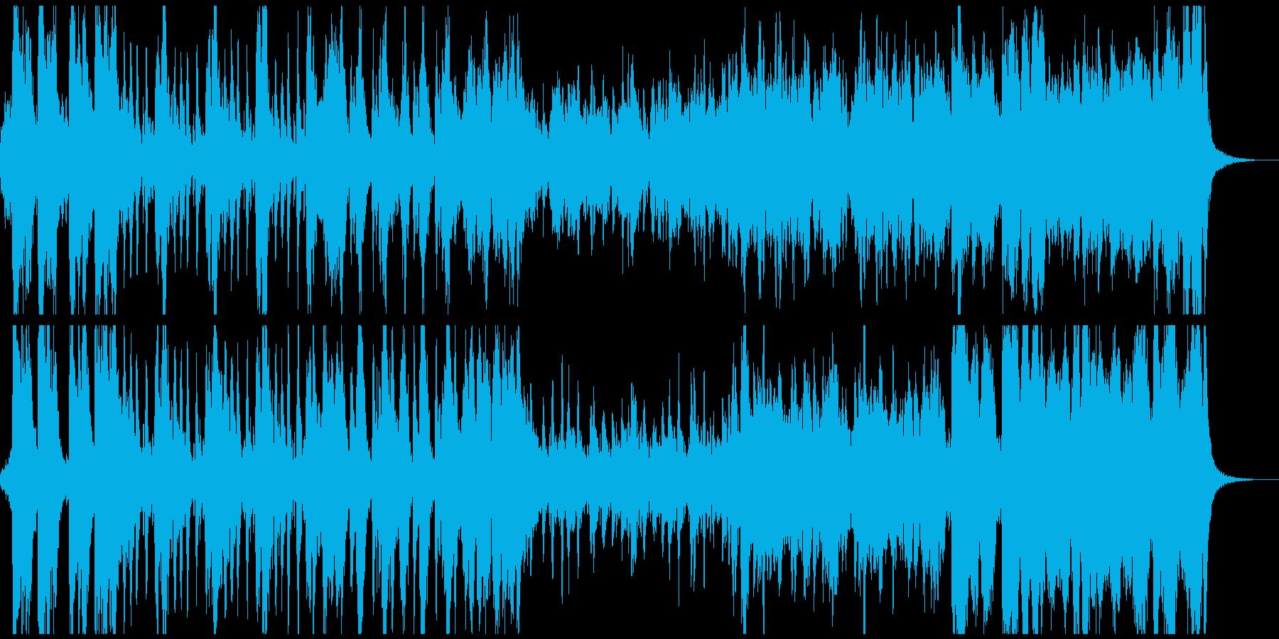 アドベンチャー映画風のオーケストラの再生済みの波形