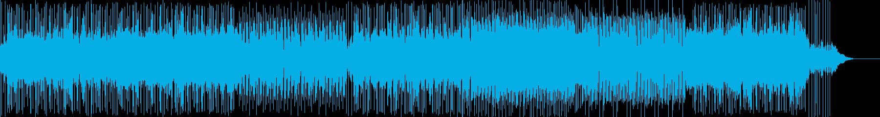 気分がアガる疾走感あふれる曲の再生済みの波形