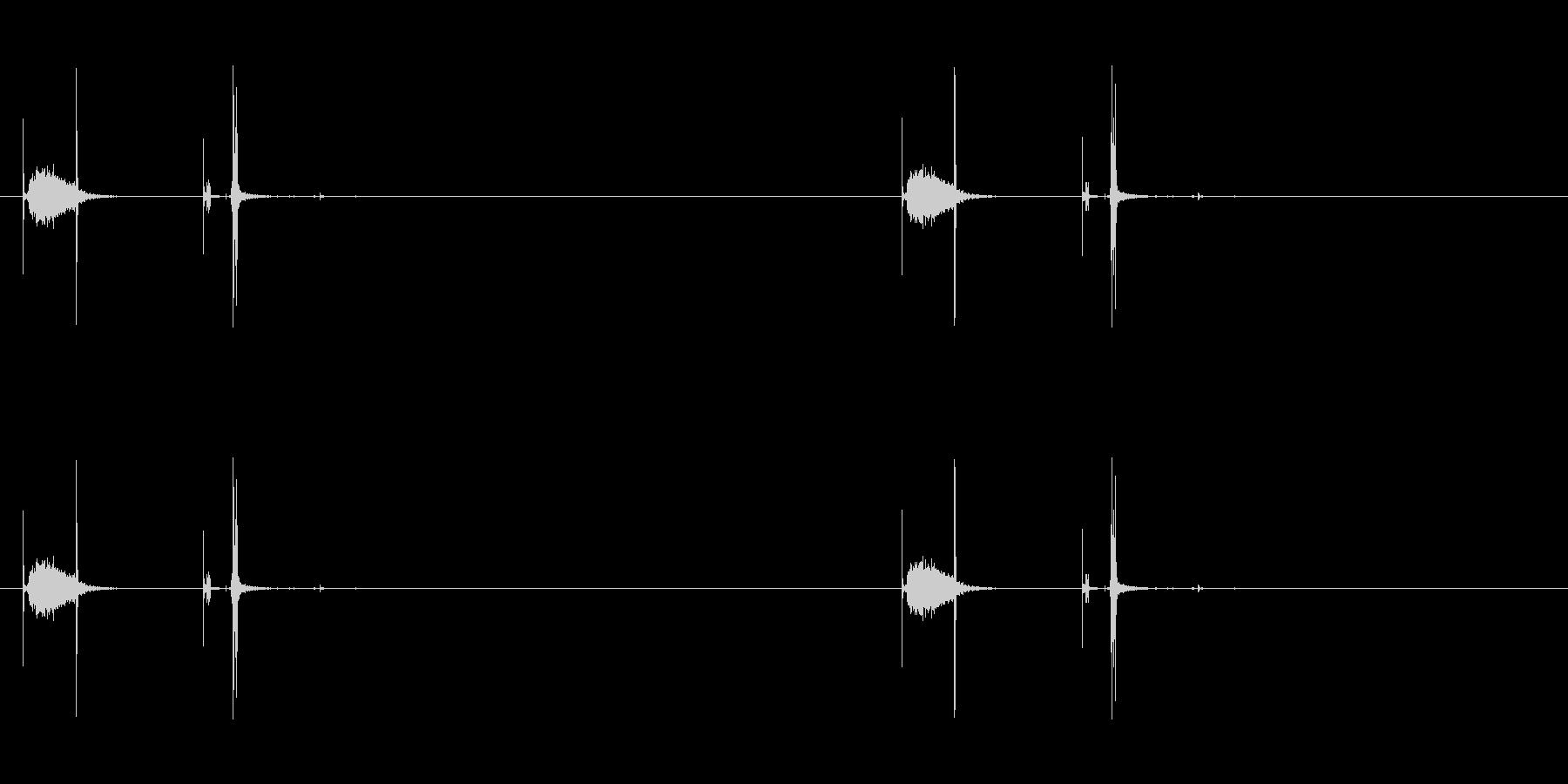 カシュの未再生の波形