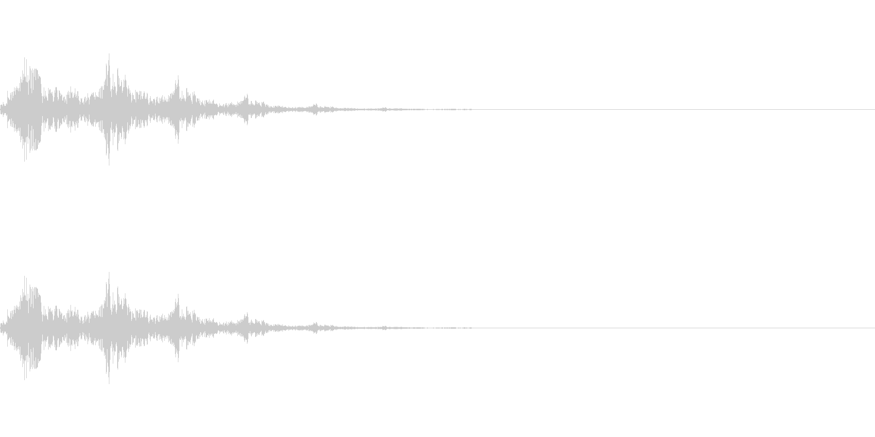 選択、決定等のシステム効果音のイメージ…の未再生の波形