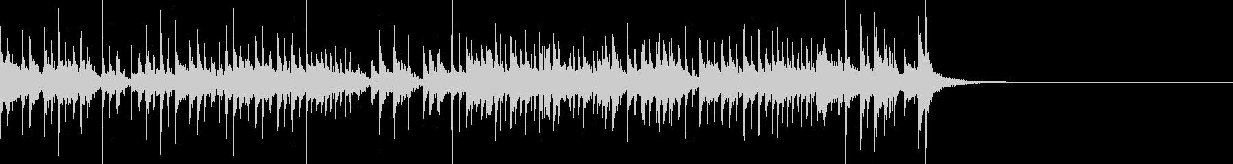 アップテンポなファンキードラムの未再生の波形