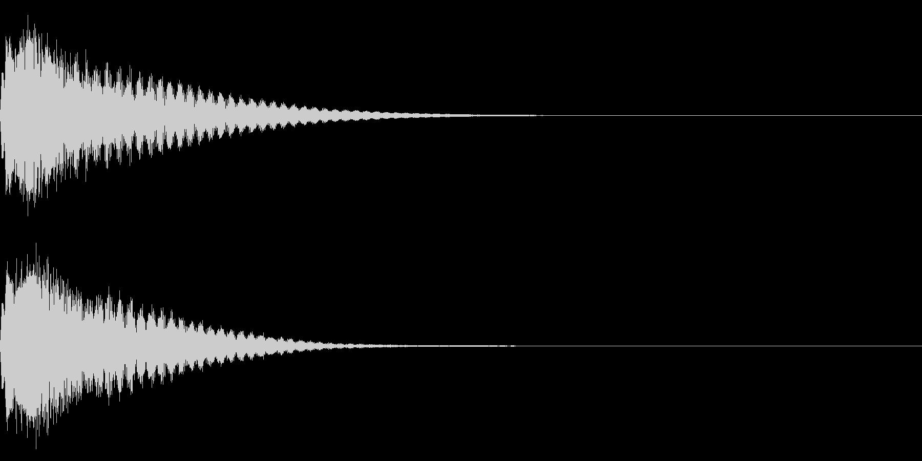 キュイン ボタン ピキーン キーン 21の未再生の波形