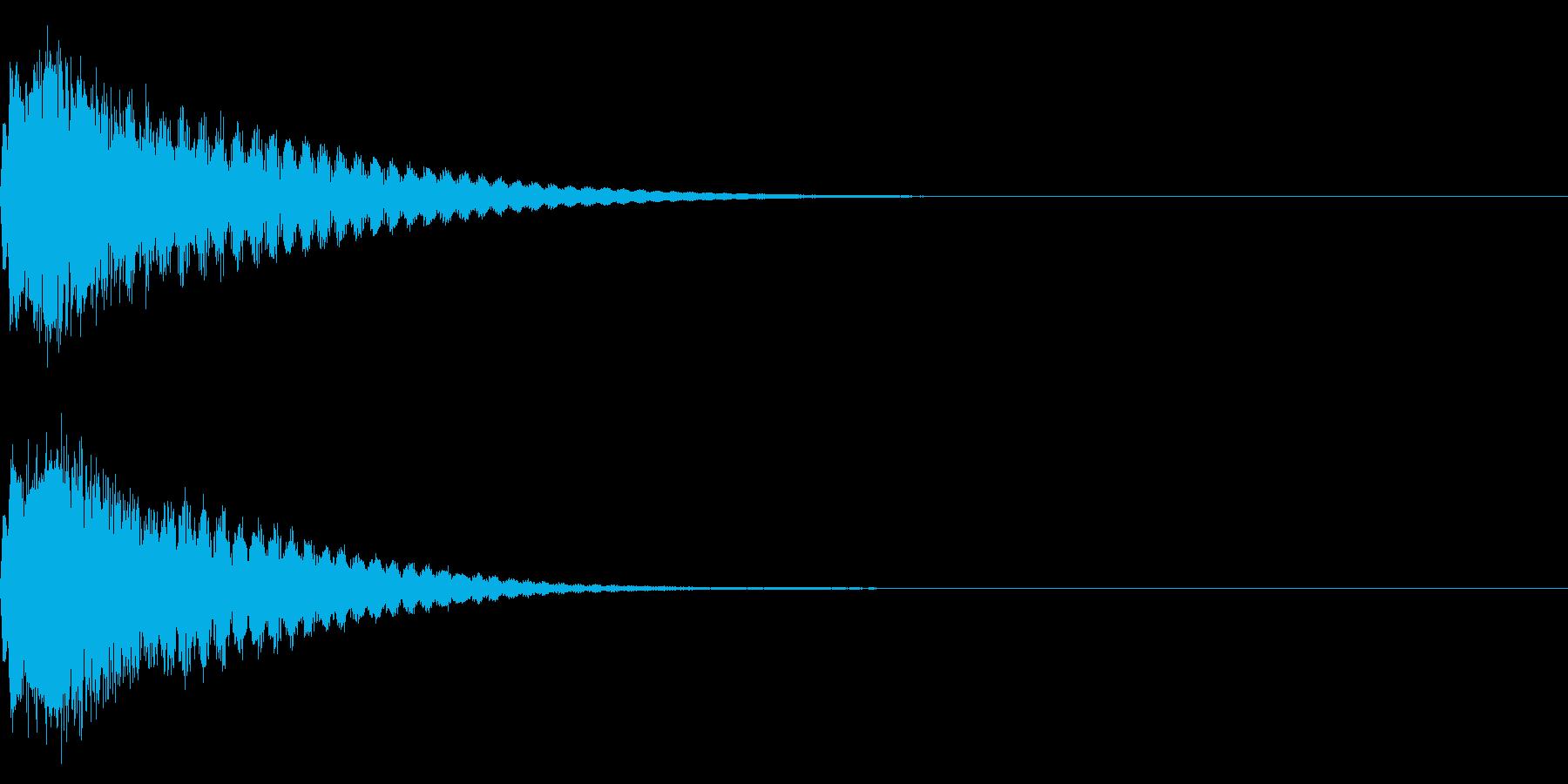 キュイン ボタン ピキーン キーン 21の再生済みの波形