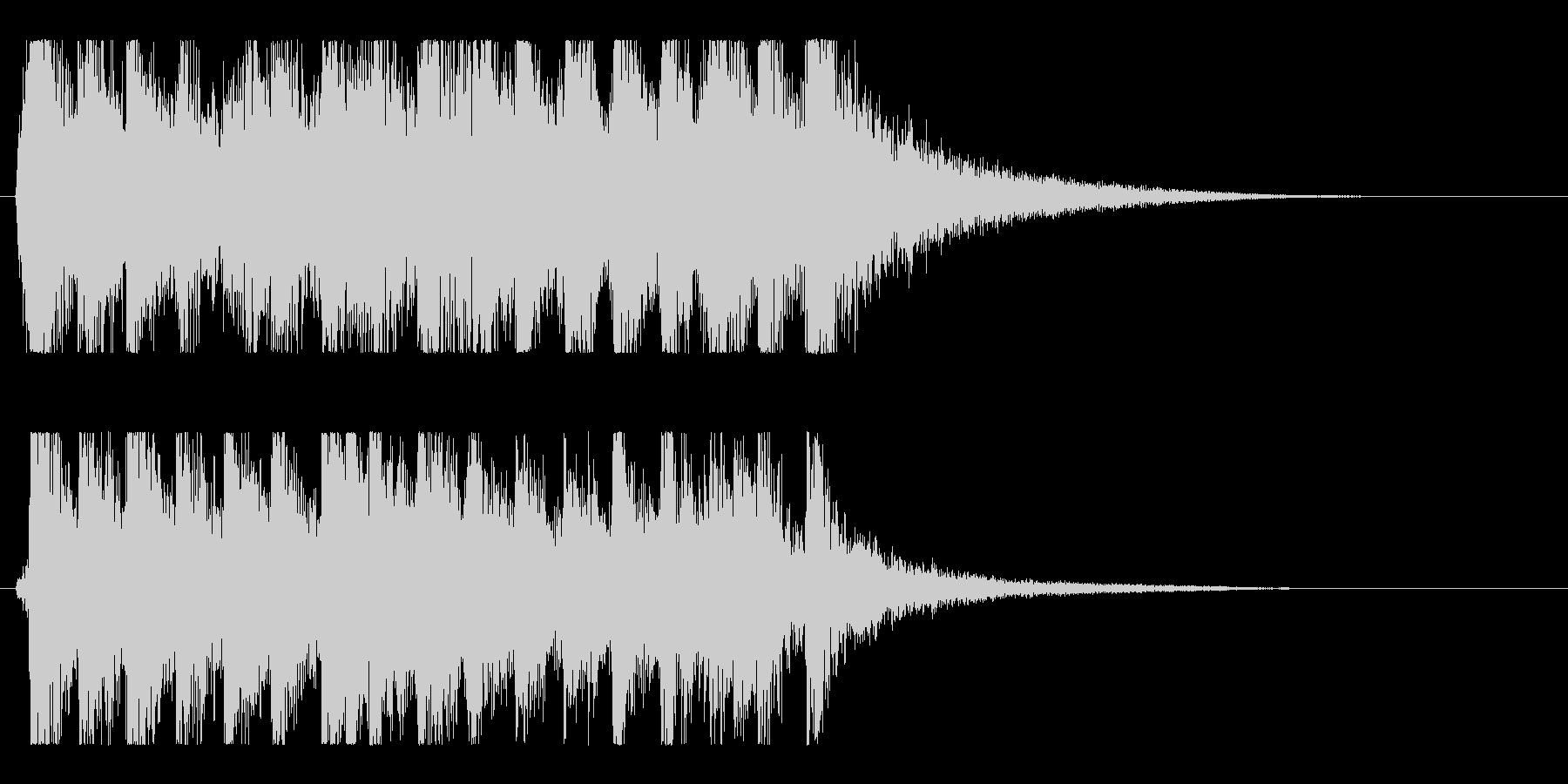 ダイナミック躍動感のアップビート和風ロゴの未再生の波形