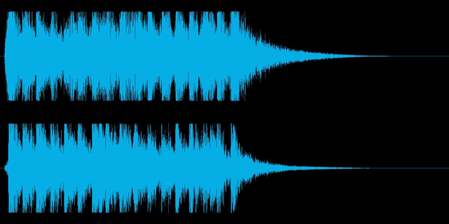 ダイナミック躍動感のアップビート和風ロゴの再生済みの波形