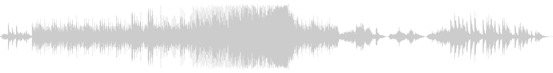 ピアノとエレクトリックの夜空の音楽の未再生の波形