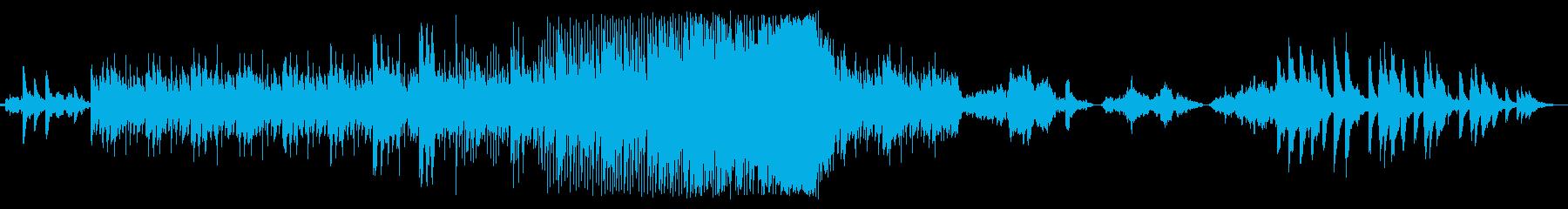ピアノとエレクトリックの夜空の音楽の再生済みの波形