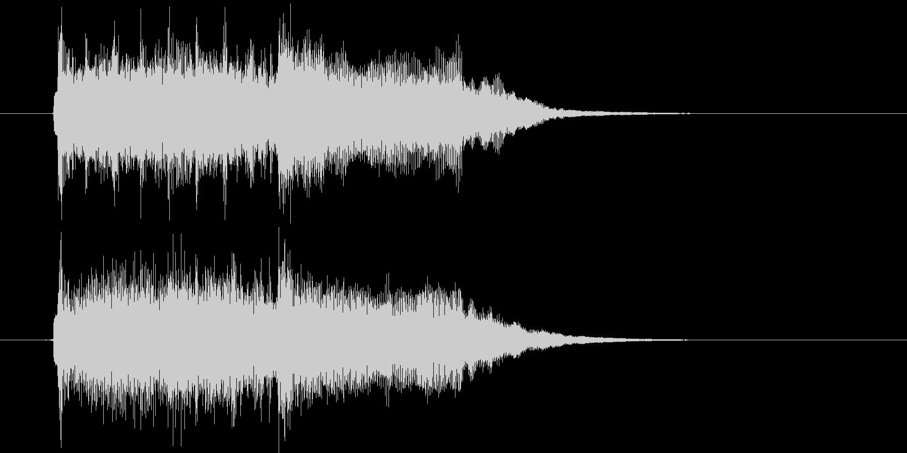 ポップスによるジングル曲、サウンドロゴの未再生の波形