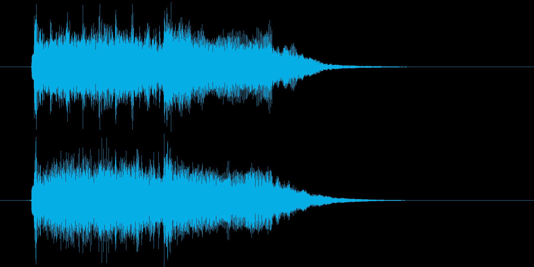 ポップスによるジングル曲、サウンドロゴの再生済みの波形