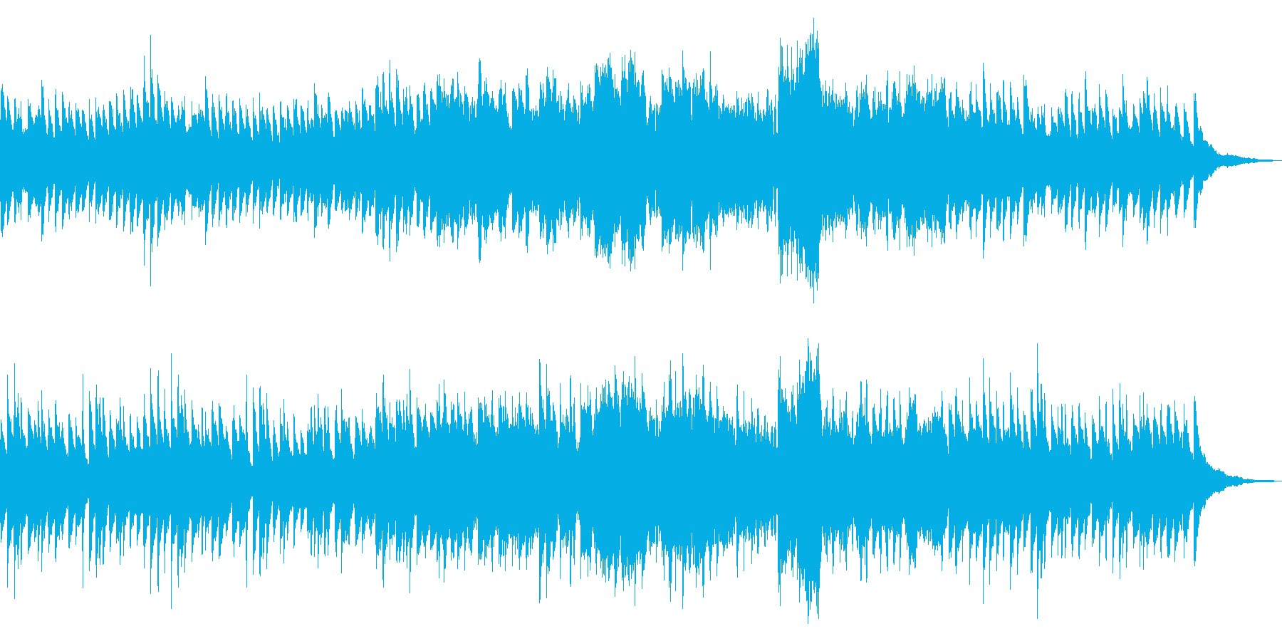 清楚で優雅なピアノワルツの再生済みの波形