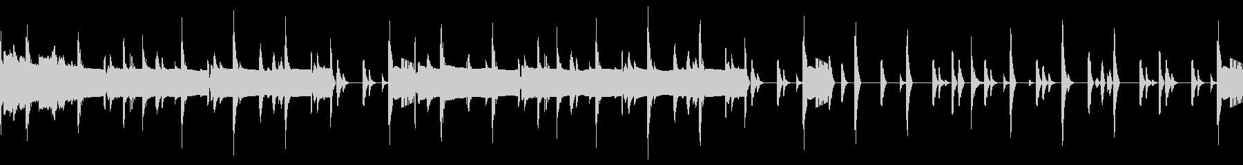 ドラムとベースのループ素材の未再生の波形