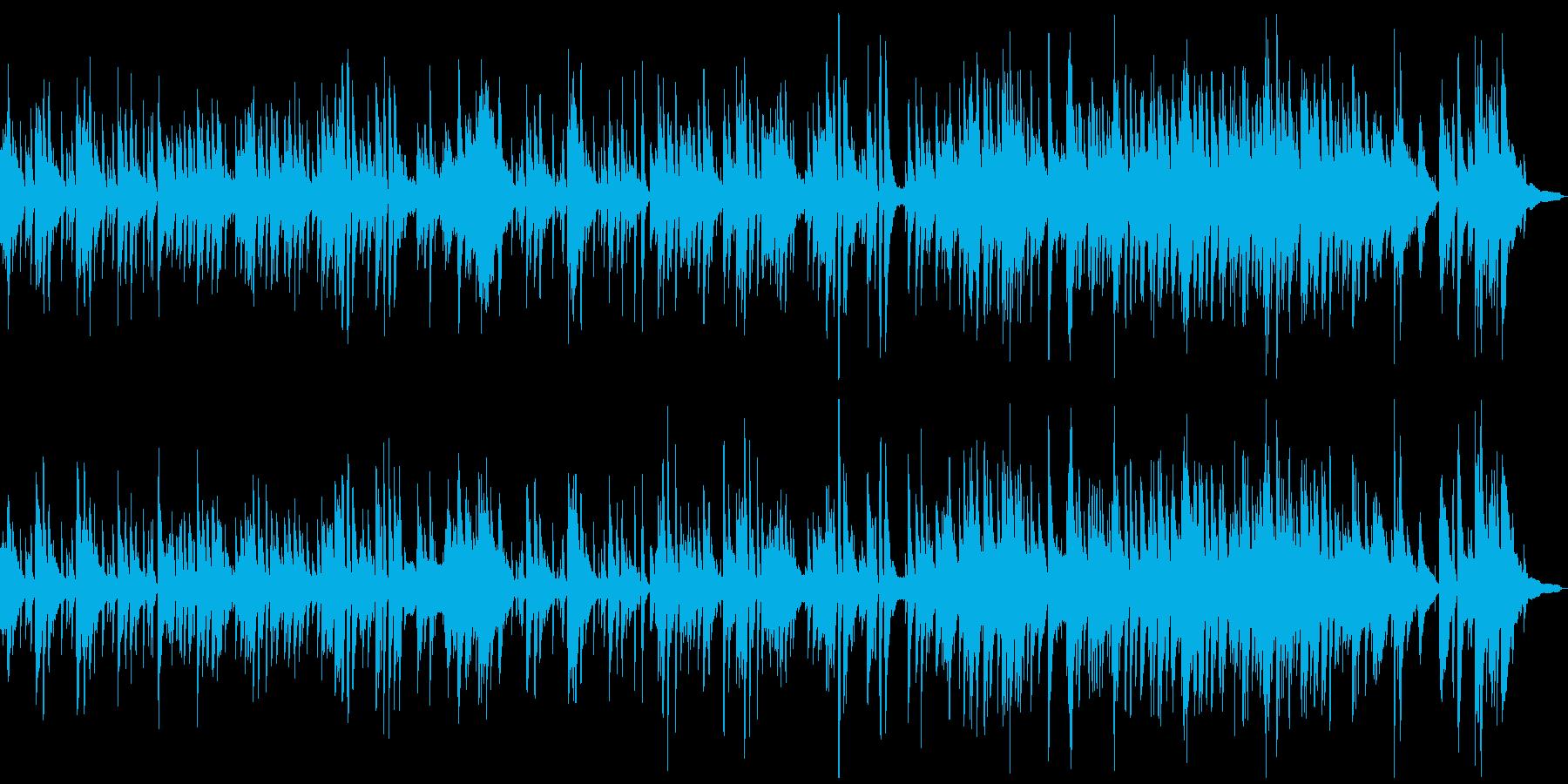 リラックスしたアコースティックメロディの再生済みの波形