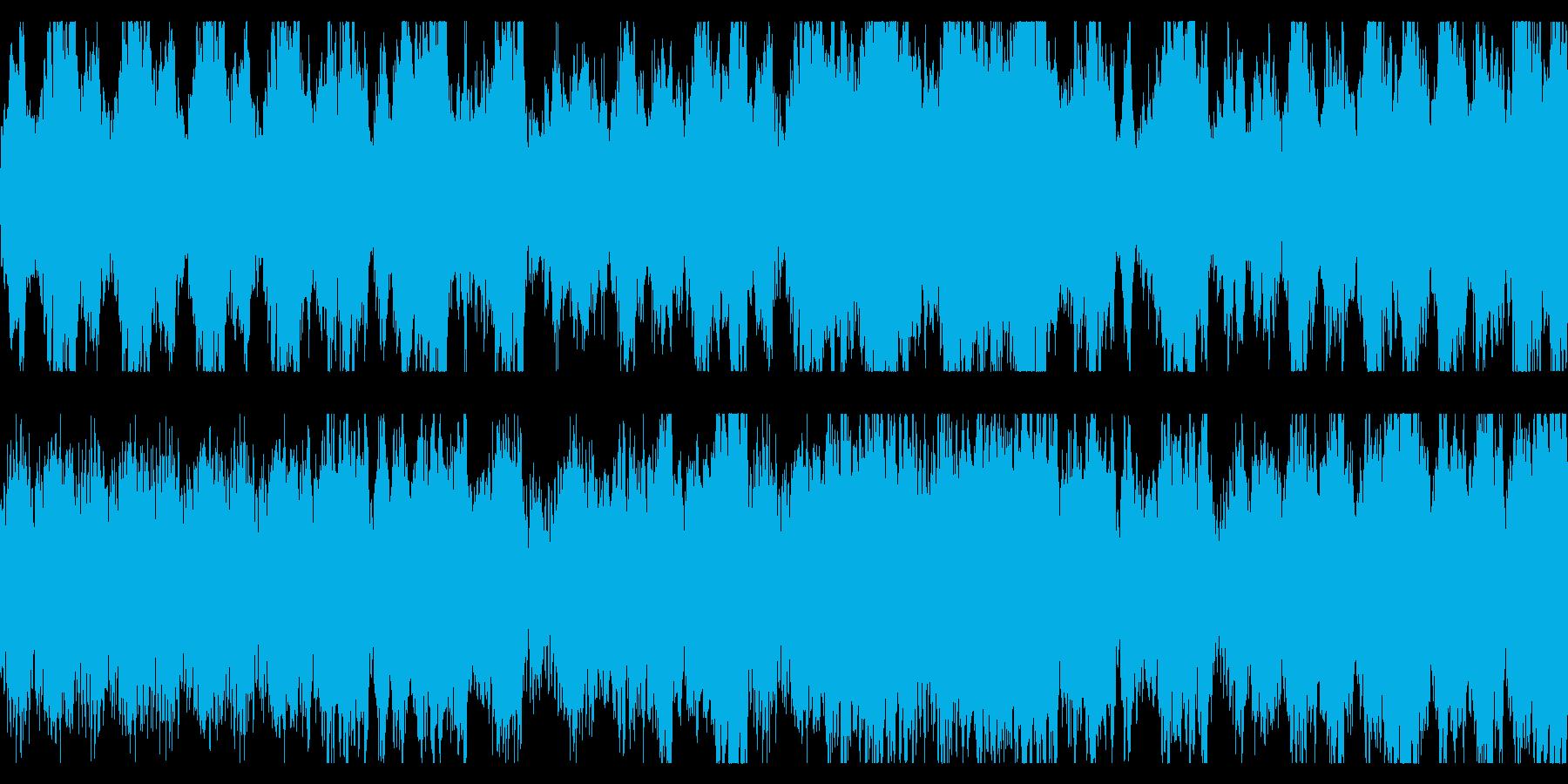 ダーク、ホラー向けオーケストラ ループの再生済みの波形