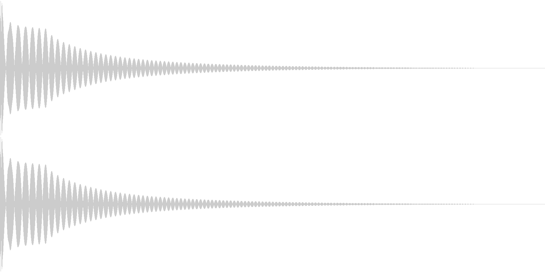 DTM Kick 75 オリジナル音源の未再生の波形