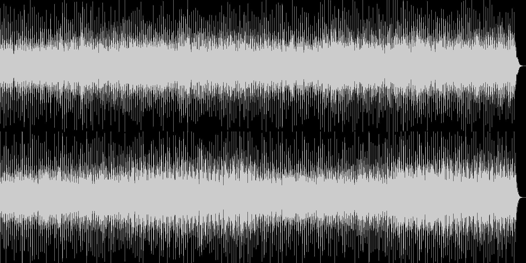 淡い美しいテクノBGMの未再生の波形