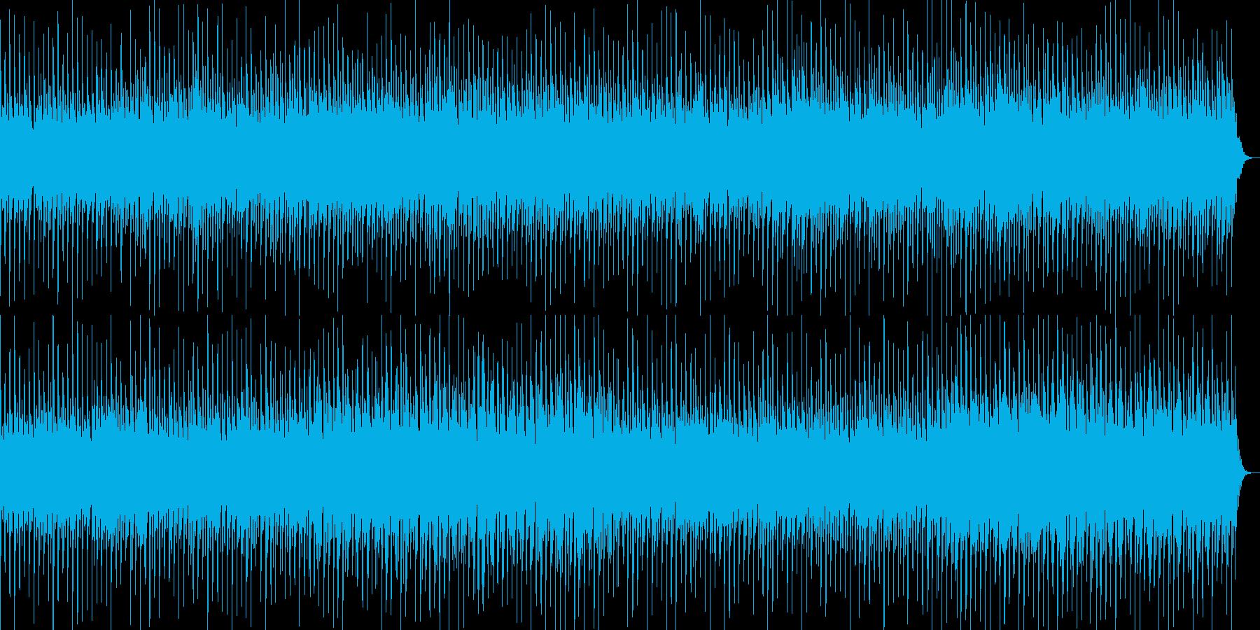 淡い美しいテクノBGMの再生済みの波形