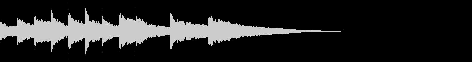鉄琴の可愛くて楽しいジングルの未再生の波形