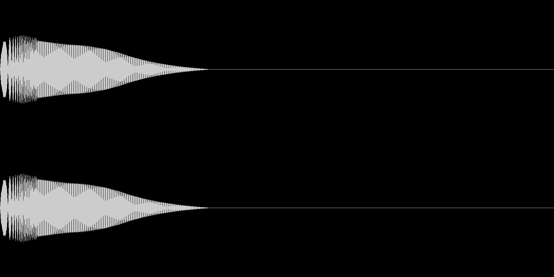 汎用 UI/決定/セレクト ポワンの未再生の波形