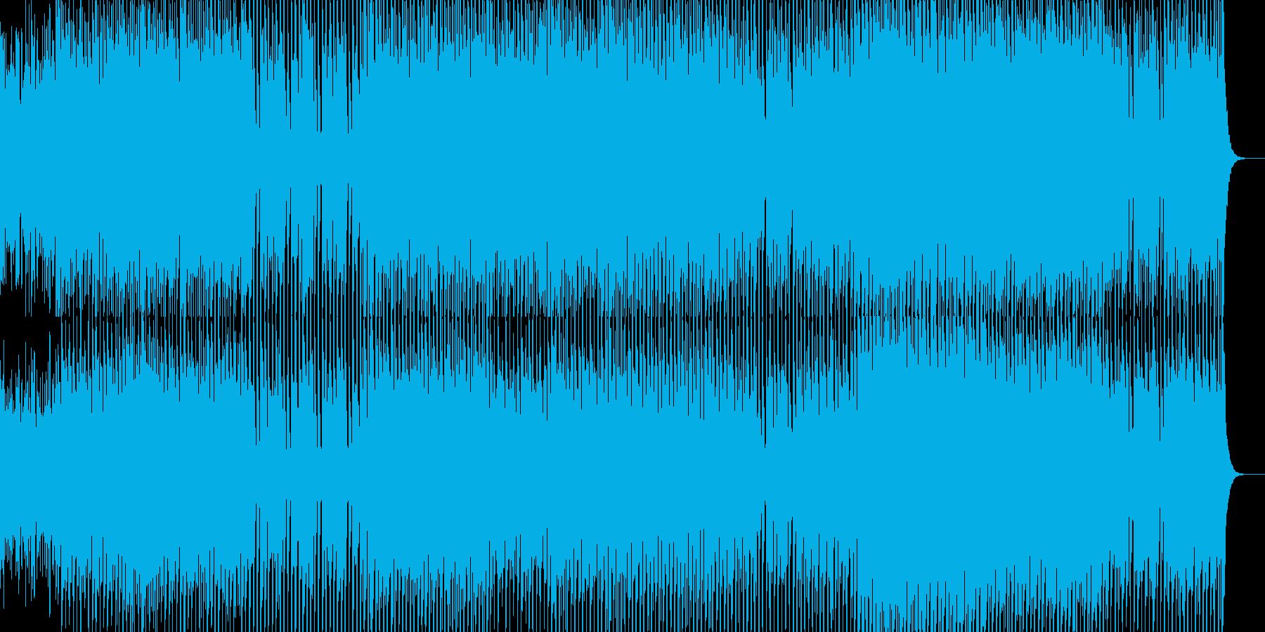 とにかく楽しくも緊迫感のある感じのイメ…の再生済みの波形