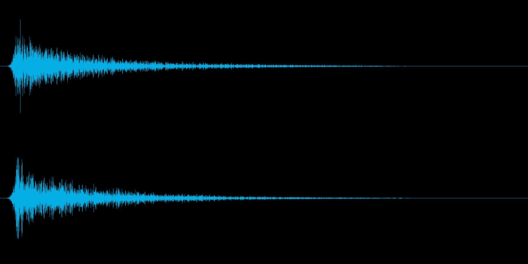 遠い鈍い鈍い怖いショートインパクト1の再生済みの波形