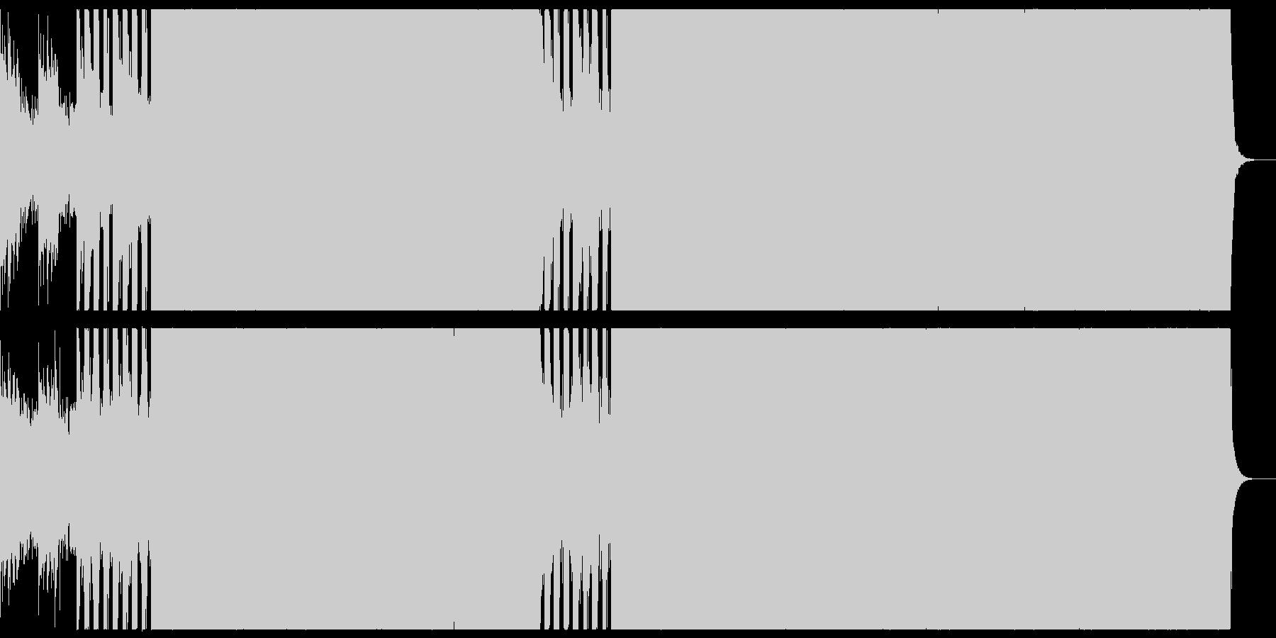 縦回転の回転寿司の店舗のための音楽の未再生の波形