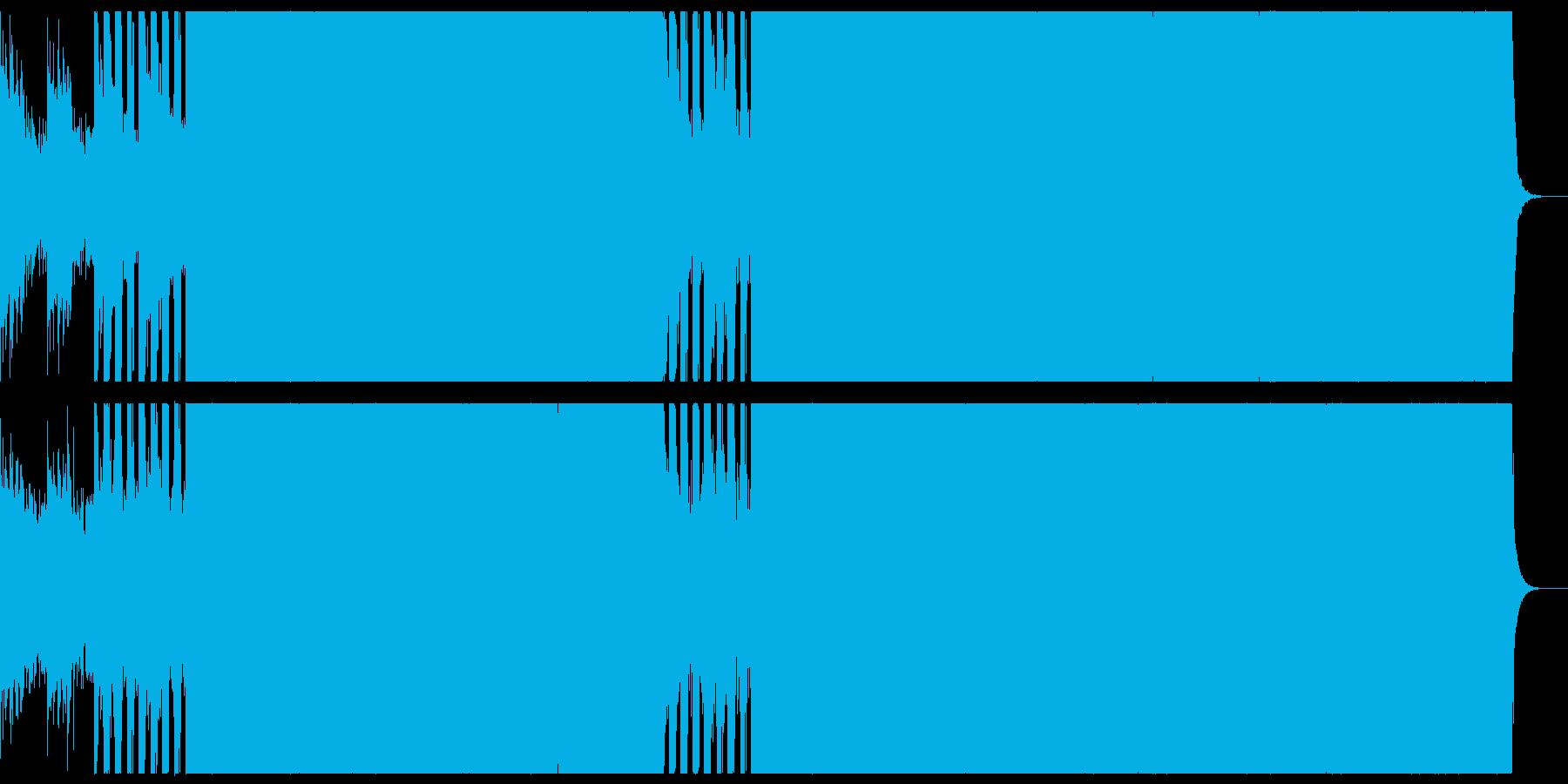 縦回転の回転寿司の店舗のための音楽の再生済みの波形